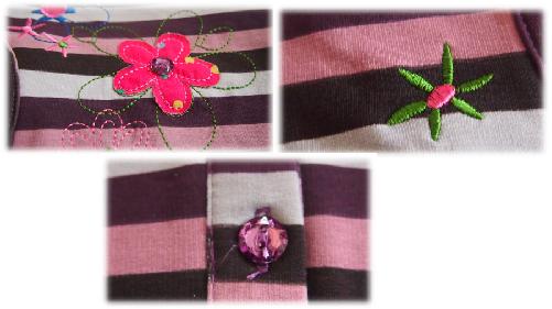 Details des Shirts Blumenwiese von Zaubermode