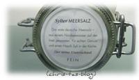 Deutsches Meersalz aus Sylt