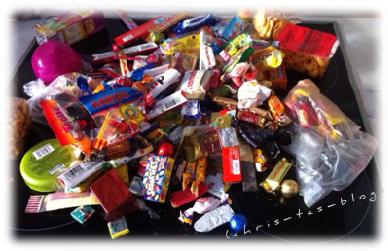 Die Süßigkeiten-Ausbeute