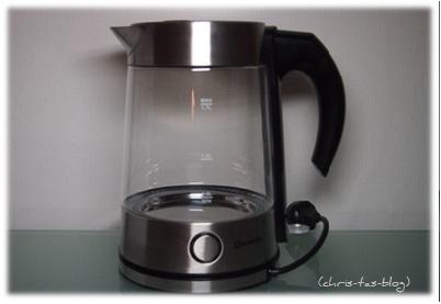 Edelstahl-Wasserkocher mit Glas und LED-Beleuchtung