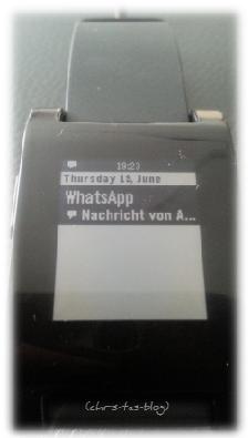 Eingehende Nachricht WhatsApp auf Pebble Smartwatch