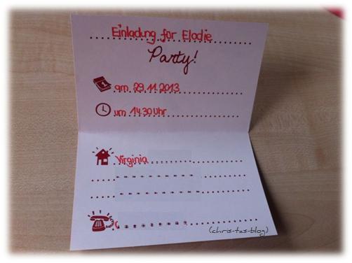 Einladungskarte Minnie Mouse