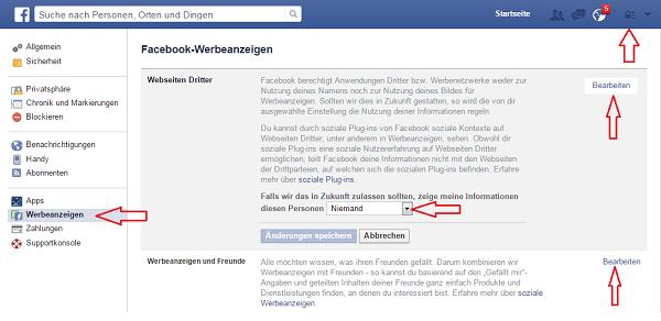 Wie man Werbeanzeigen einstellt bei Facebook