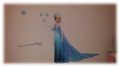 Elsa Sticker an der Wand