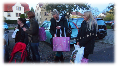 Empfang unserer Goodiebags