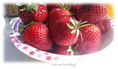 Erdbeeren für Dessert