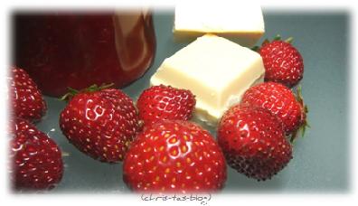 Erdbeeren und weiße Schokolade