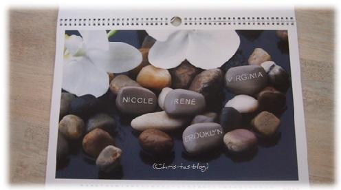 Familienkalender mit 4 Namen