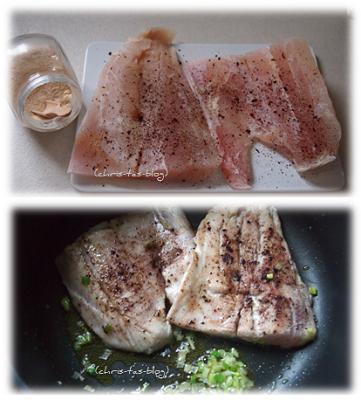 Fischfilet säubern-säuern-salzen und anbraten