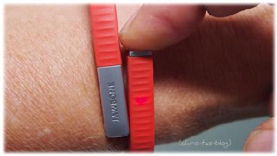Funktionslicht beim Jawbone Fitness-Armband