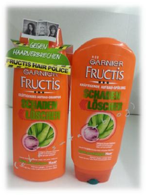 Garnier Fructis Schadenlöscher Shampoo und Spülung