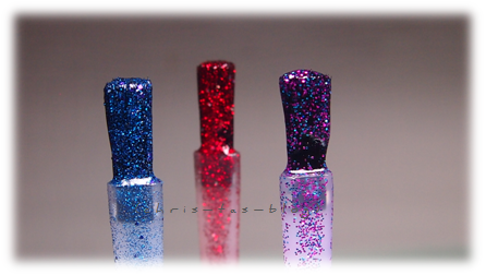 Glitterpartikel im Nagellack