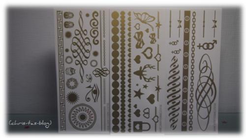 Gold Tattoos von Tana Cosmetics