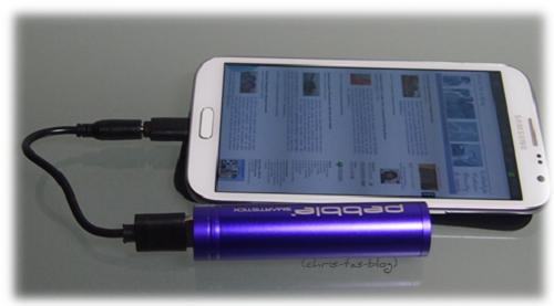 Handy laden mit Pebble Smartstick