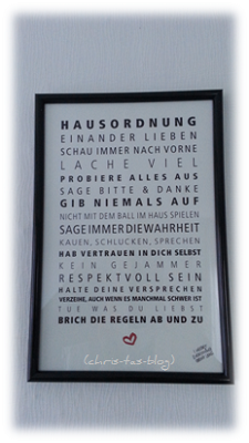 Hausordnung - Kunstdruck von Formart - Zeit für schönes!