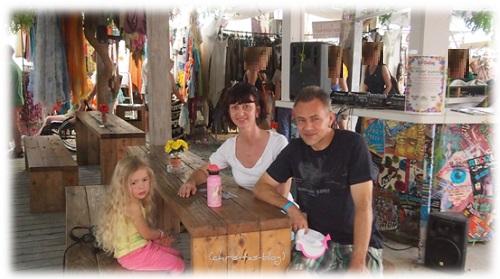 kleine Pause auf dem Hippie Markt Ibiza