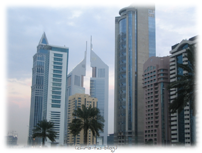Hochhäuser Dubai entlang Sheik Zayed Road