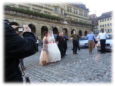 Hochzeit auf dem Marktplatz