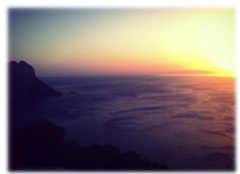 wunderschöner Sonnenuntergang auf Ibiza