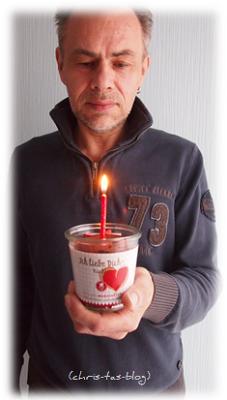 Ich liebe Dich Kuchen mit Kerze