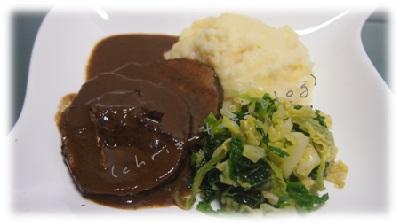 Kalbsnüsschen an Kartoffelpüree und knackigem Wirsing von dinnery.de