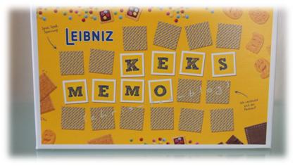 Keks Memory von Leibniz