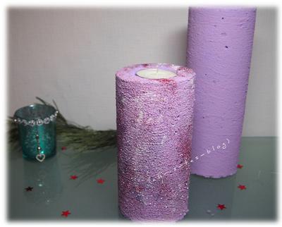 Kerzenständer Glitzer DIY