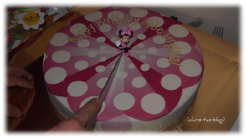 Kindergeburtstags torte Minni Maus