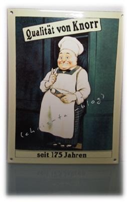 Knorr Nostalgieschild Koch seit 175 Jahren