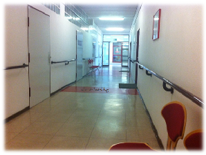 Krankenhausflur Krankenhaus von innen