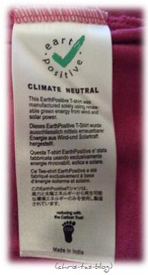 Label von earth positiv