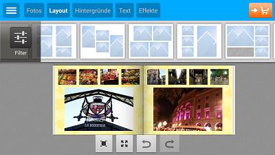 Layout Fotobuch App