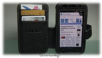 Ledertasche für Smartphone mit Kartenfächern