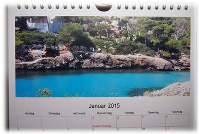 Unsere Mallorca Fotos auf einem Fotokalender