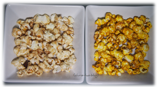 Mandel- und Indian Spice-Popcorn