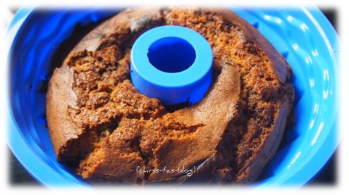 Marmorkuchen in der neuen Silikon-Backform
