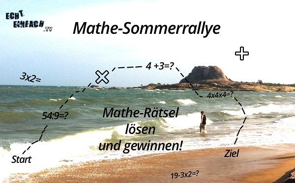 Mathe Sommerrallye Gewinnspiel
