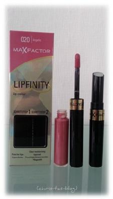 MaxFactor Lipfinity in der Douglas Box Juli 2014