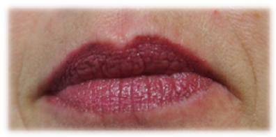 Mega Last® Liquid lip color aufgetragen