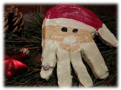 Nikolaus mit Ring aus der Juwelkerze