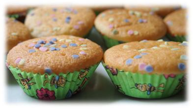Mini-Zitronen-Muffins gebacken