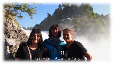 Mit Lena und Yagmur am Rheinfall Schaffhausen