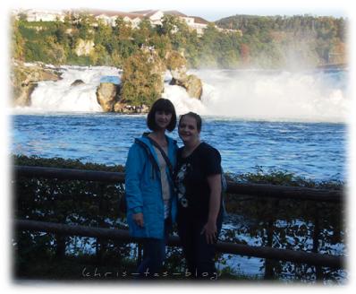 Mit Lena vor dem Rheinfall