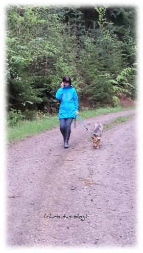 Mit Mandy beim Waldspaziergang