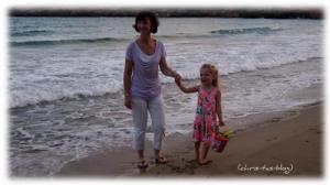Mit Virginia am Strand von Ibiza