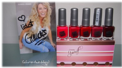 Nagellacksets Kosmetiklinie Red loves pink by Gundis Zámbó