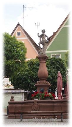 Marktplatz, Neptunbrunnen Neustadt a.d. Aisch