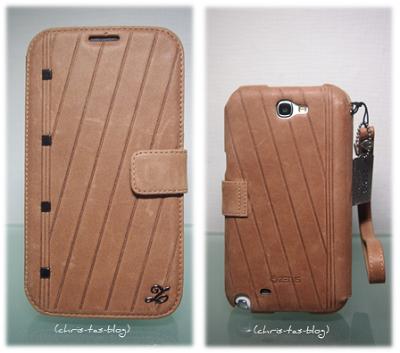 Nubukleder Handycase Samsung Galaxy Note 2