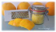 Orangenzucker aus Orangenschalen