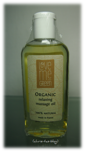 Organic relaxing Massage Öl von love me green